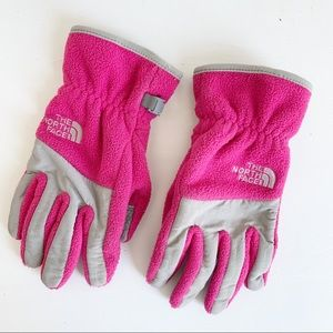 The North Face Girls Pink Gloves Size Large